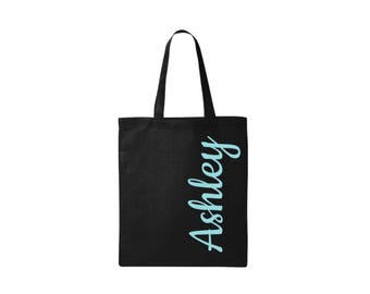 Personalized tote - Personalized Bag - Totes with Name - Custom Tote Bags - Gift for coworker - Gift for Teenager - Back To School Gifts