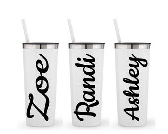 Custom Tumbler, Bridesmaid, Barchelorette Party, Bridesmaid Tumbler, Team Gift, Personalized Tumbler with Straw