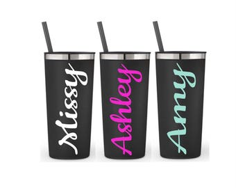 Employee Appreciation Gifts Tumbler With Straw Bridesmaid Tumblers Personalized Water Bottle Bachelorette Party Favors Group Gifts