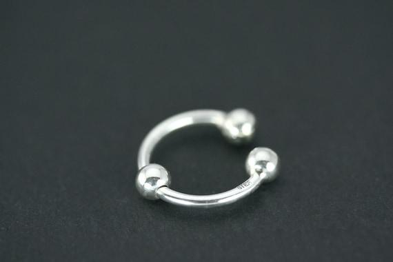 Septum Horseshoe Fake Nose Ring Septum Ring Fake Septum Etsy