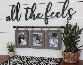 All The Feels Cut Out Funny Saying Cute Home Decor Words Trendy Wood Letters
