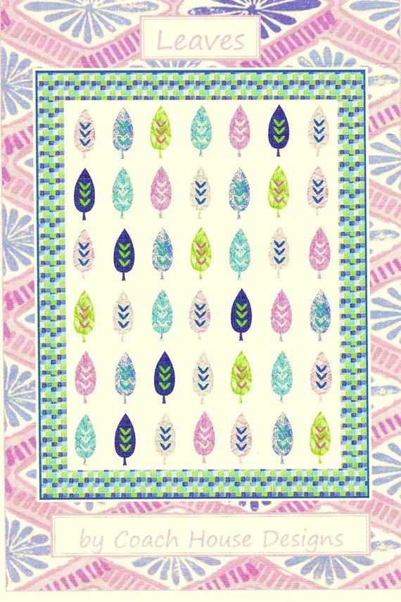 50 x 62 Leaves Quilt Pattern by Barbara Cherniwchan of Coach House Designs