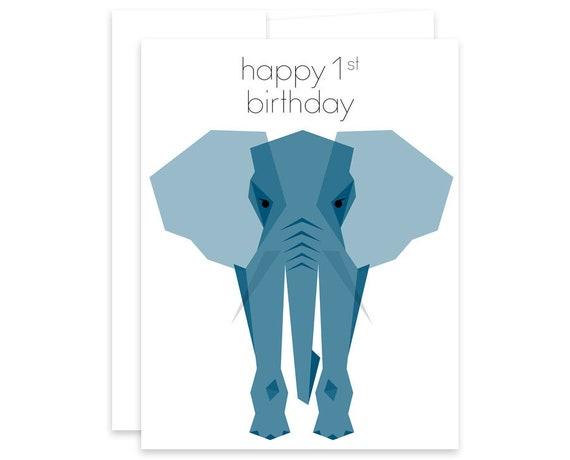 Happy First Birthday Card Babys First Birthday Birthday Etsy