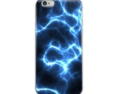 iPhone Case with blue electricity