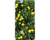iPhone Case with dandelions flower