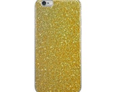 iPhone Case decorated with gold glitter