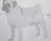 Pug 1 Dog Pattern