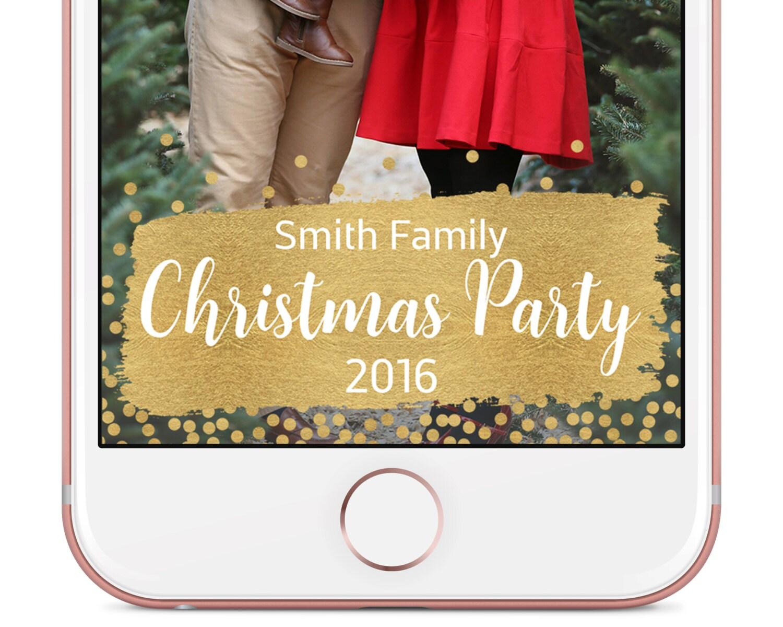 Snapchat Weihnachten Geofilter Christmas Party Geofilter | Etsy