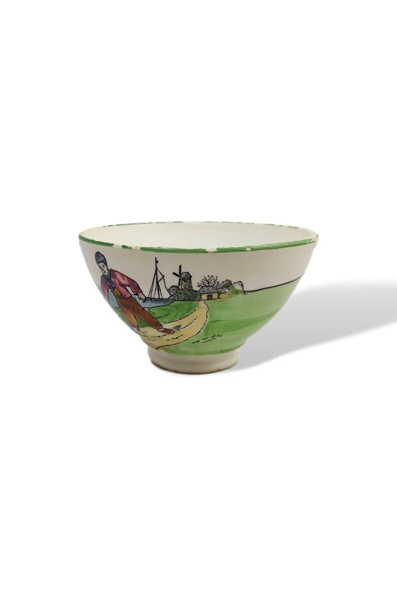 German Bowl Old Bowl German Porcelain Cup Chippy Vintage Bowl