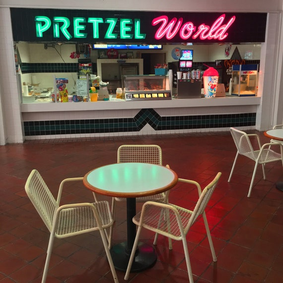 Pretzel World / 8x8 Museum Quality Giclée by Dan Bell