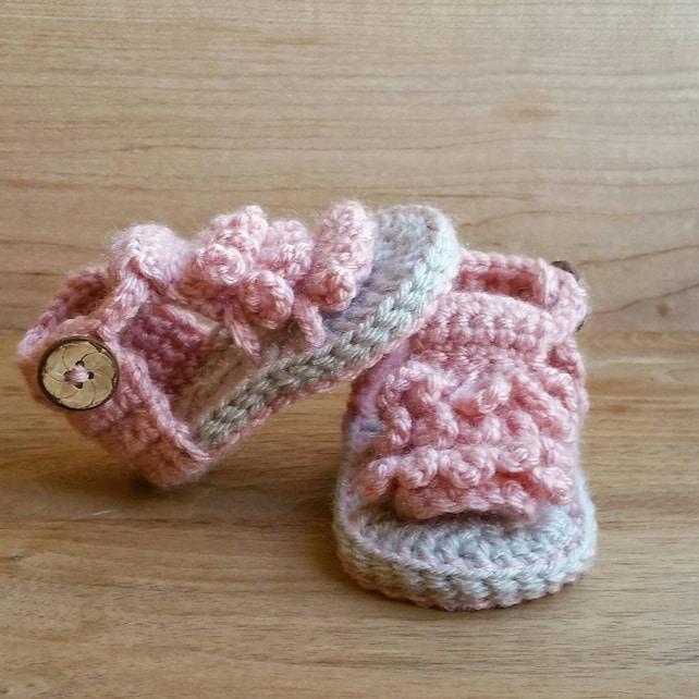 Baby Mokassin Sandalen Häkeln Babysandalen Schuhe Etsy