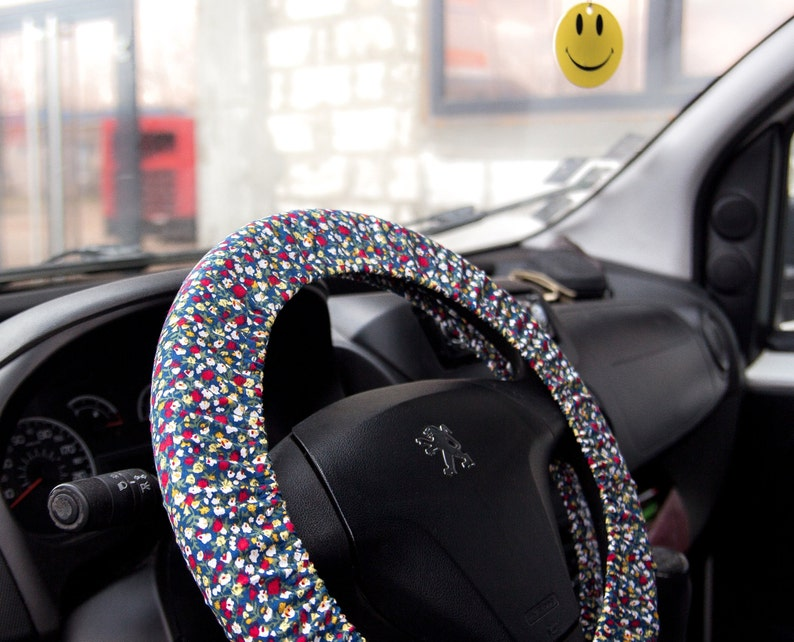 . Floral steering wheel cover for women  Car accessories for girls  Birthday  car interior gifts  Womens gift  gift for her nurse mom sister