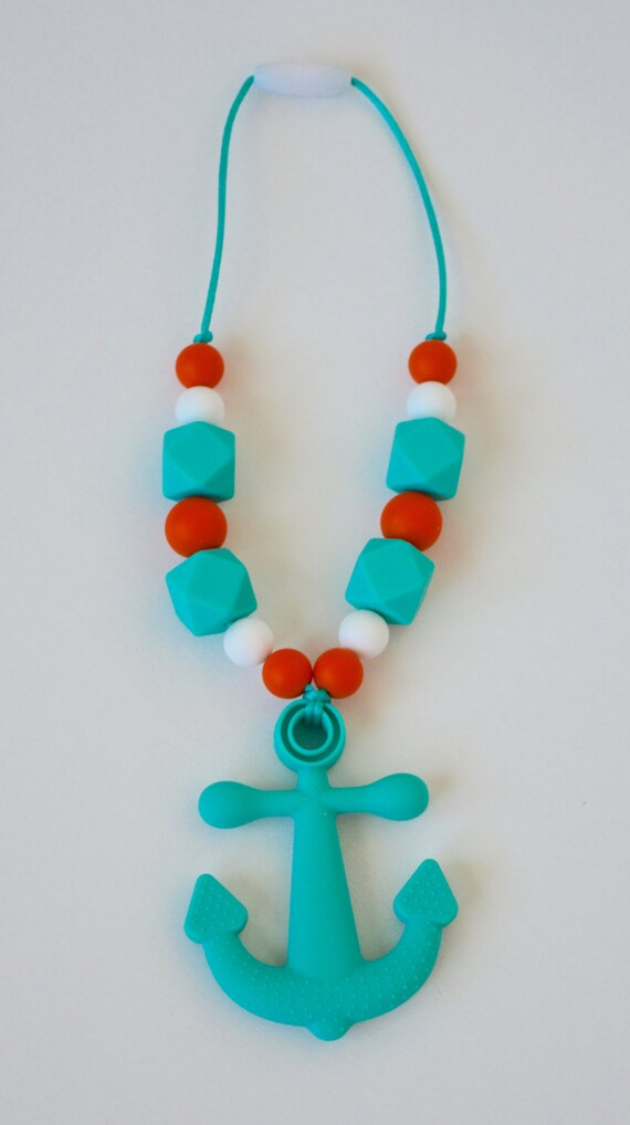 Baby Silicone Teething NecklaceBaby Anchor Teether Tula Baby