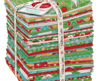 """SALE - Christmas Cheer by Patrick Lose - (40) 18"""" x 22"""" Fat Quarters"""