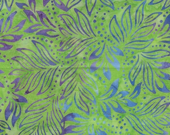 Bali Color Pop - 7091-40 - Lily Leaves Light Lime for Benartex - Triple-Dyed