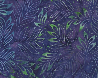 Bali Color Pop - 7091-66 - Lily Leaves Violet for Benartex - Triple-Dyed