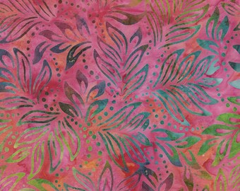 Bali Color Pop - 7091-22 - Lily Leaves Pink Multi for Benartex - Triple-Dyed