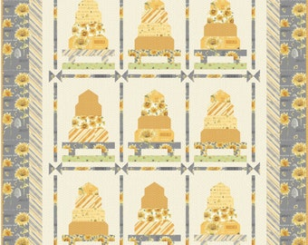 All a Buzz Quilt Kit featuring Bee My Sunshine collection by Whistler Studios for Windham Fabrics