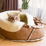 Sherpa Moccasin Cat Bed and Dog Bed, great for kitten shower and puppy shower gift, also housewarming gift