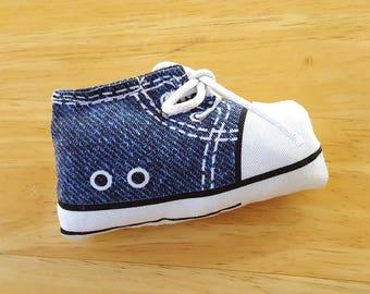 Blue Sneaker Catnip Toy, Denim Handmade Cat Toys, Cat Gift, Cat Lover Gift, Cat Toy, Catnip Toy, Catnip Cat Toys, Cat Toys, Unique Cat Toys