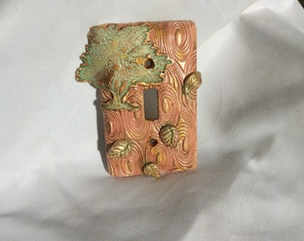 Swirling Leaves Switchplate light switch