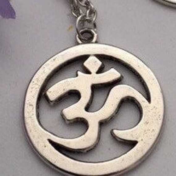 CLEARANCE 8 pcs Yoga Ohm Charm Antique Silver Om Yoga Charm for Jewelry Charm ONLY