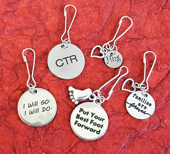 Gifts for LDS Primary Children Teacher, LDS Jewelry, Primary Theme Zipper Pulls, Sharing Time Lesson Activity Ideas, Kids Scripture Stories