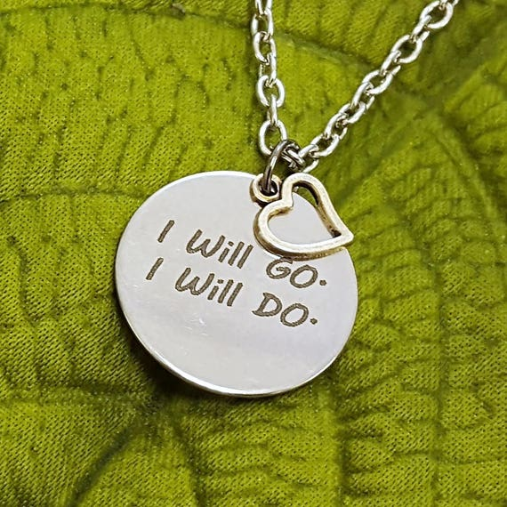 Gifts for LDS Primary, LDS Primary Jewelry, Nephi's Courage Song, I Will Go I Will Do Primary Charm Necklace, Gift for LDS Girls Leaders