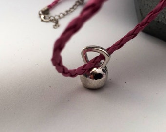 Kettlebell Charm, Kettlebell Necklace, CrossFit Jewelry, Fitness Gift, Sports Jewelry, Weight Training Bodybuilding Gift, Athlete Coach Gift
