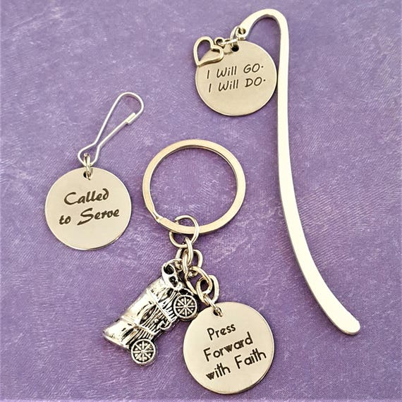LDS Charms Bookmarks Key Rings Zipper Pulls, Gifts for LDS Missionaries Leaders Primary Young Women, Girls Camp Youth Conference Seminary