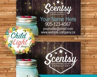 SCENTSY autorisé du vendeur - cartes de visite - carte de visite sur mesure - qui chassent les lucioles - cartes personnalisées - imprimer vos propres