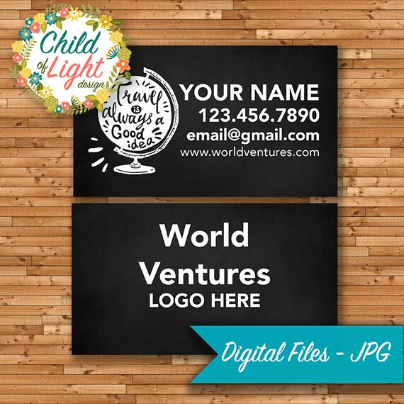 Travel Agent World Ventures Cards Independent Cards Etsy