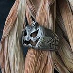 Jack O' Lantern sterling silver ring Halloween pumpkin ring Horror fan jewelry halloween jewelry, Jack-o silver ring, pumpkin jewelry