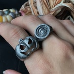 Halloween sterling silver rings bundle Eye Put a Spell on You Jack O' Lantern rings, halloween horror fans, halloween jewelry, pumpkin ring