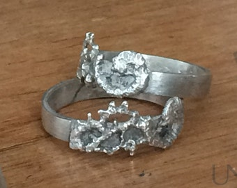 Large Textured Ring - Silver Lace Ring - Unisex Ring - Large Band - Alt Wedding Ring - Silver Goth Ring - Romantic Jewelry - Goth Jewelry