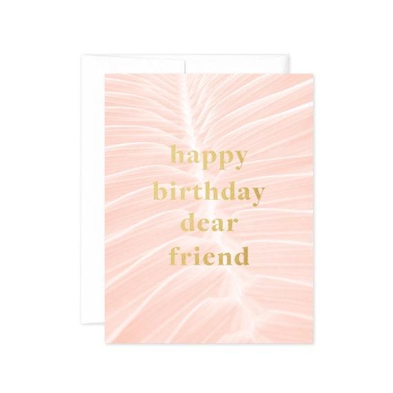 Palms Happy Birthday Dear Friend Greeting Card