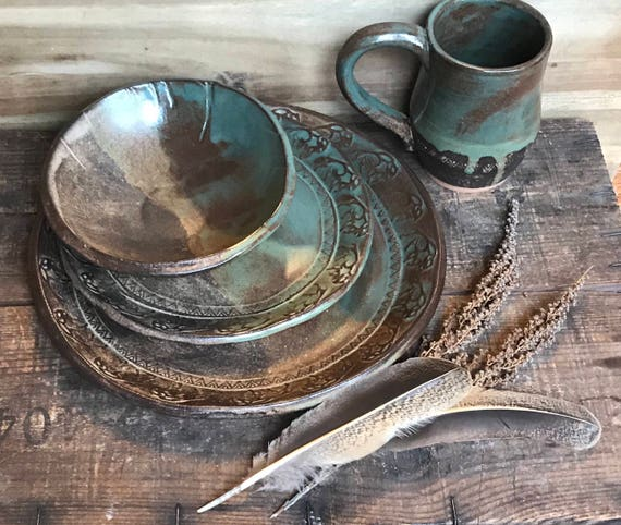 Wild Buffalo Dinnerware Set Including Mug Native American | Etsy