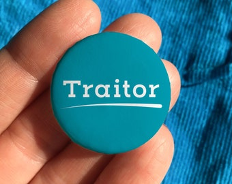Traitor badge, funny leaving gift, leaving gift work colleague, colleague leaving gift, goodbye gift for coworker
