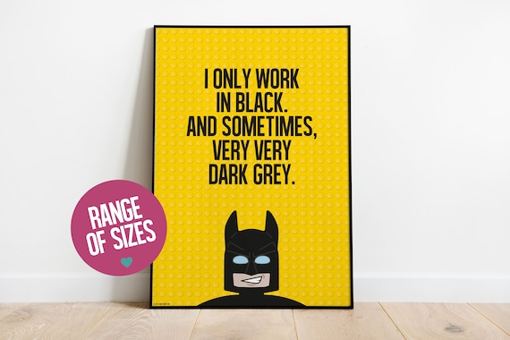 Lego Batman Poster Set A4 A3 Kids Bedroom Posters *** BUY 2 GET 1 FREE***