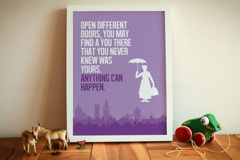 Mary Poppins stampa poster film minimalista Mary Poppins  0135dccc981e