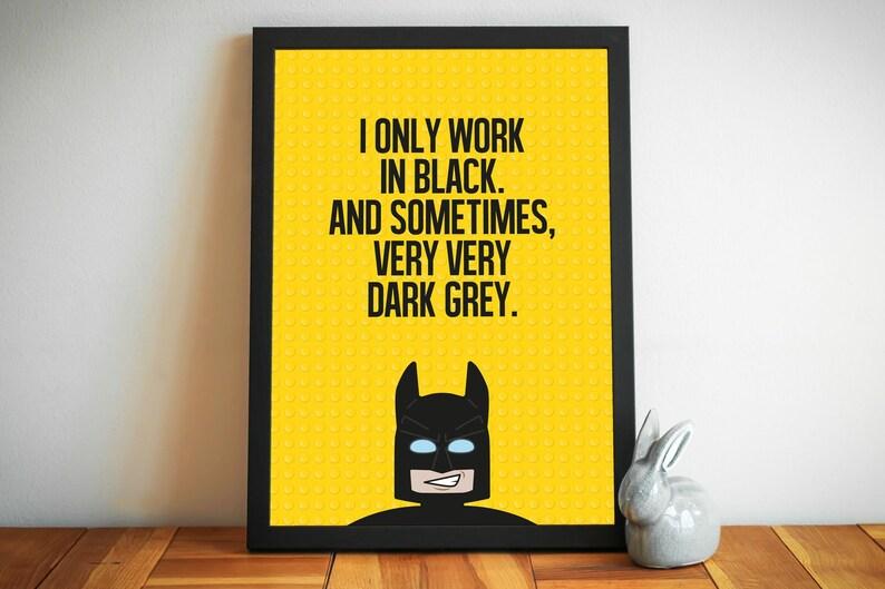 Lego Batman print Lego Movie poster superhero wall art ...