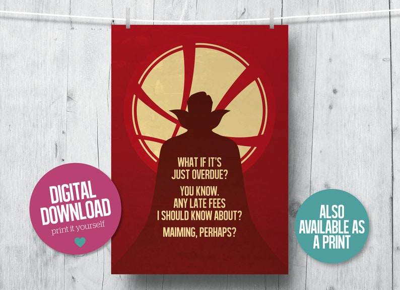 photograph about Printable Movie Poster titled Medical doctor Bizarre print, minimalist video poster, Avengers printable, Surprise printable, superhero video clip estimate, video clip print, Dr Uncommon poster