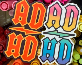 ADHD Rocker Sticker