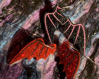 Demon Wings Earrings