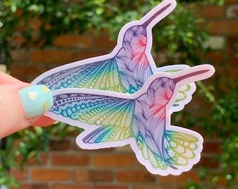 Hummingbird Vinyl Sticker