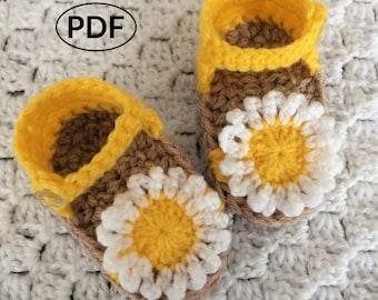 PDF Crochet Baby Sandals, Instant Download, Crochet Baby Pattern, Summer Sandals, Baby Shoes, Baby Flip Flops, Easy Crochet Pattern