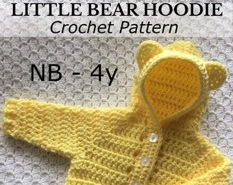 PDF NB-4yr Hoodie, Baby Crochet, Crochet Hoodie, Baby Hoodie, Toddler Hoodie, Crochet Cardigan, Photo Prop, Crochet Baby Gift *Pattern Only*