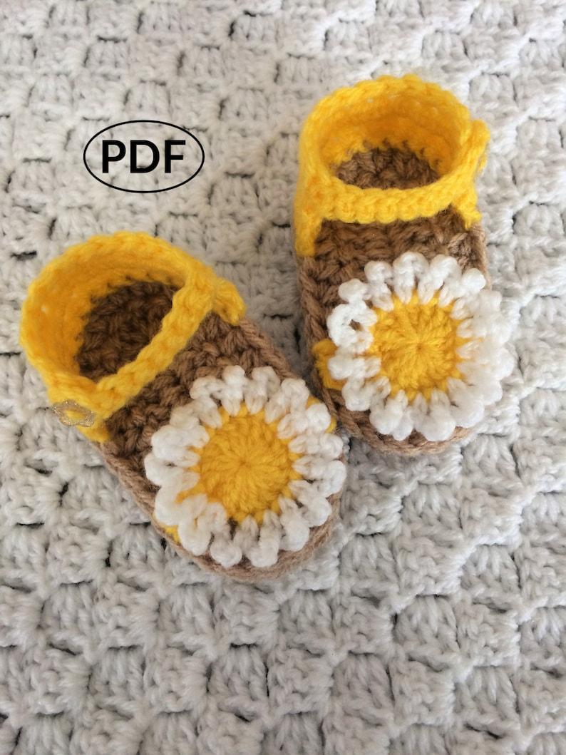PDF Crochet Baby Sandals Instant Download Crochet Baby image 0