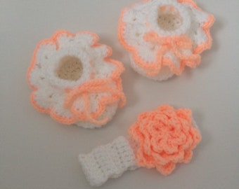 Frilly Baby Booties, Baby Booties, Baby Girl, Crib Shoes, Frilly Booties, Newborn Booties, Baby Headband, Booties and Headband Set