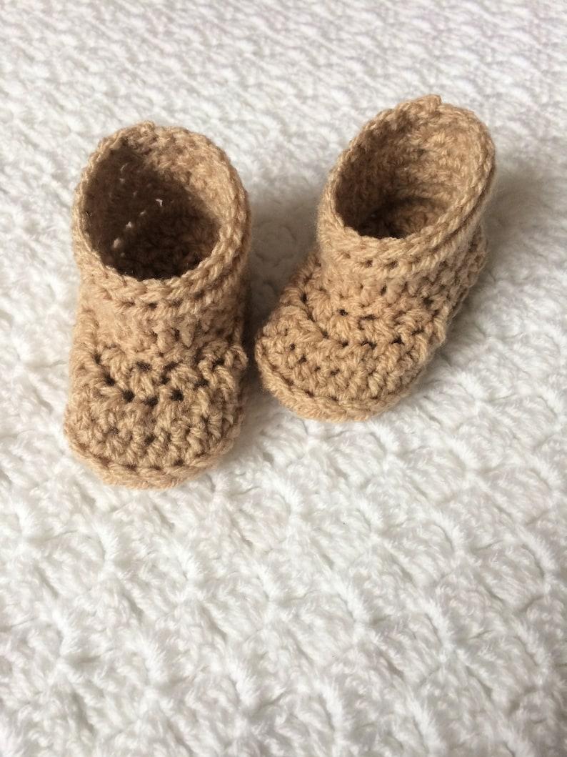 Unisex Baby Booties Crochet Booties Gender Neutral Newborn image 0